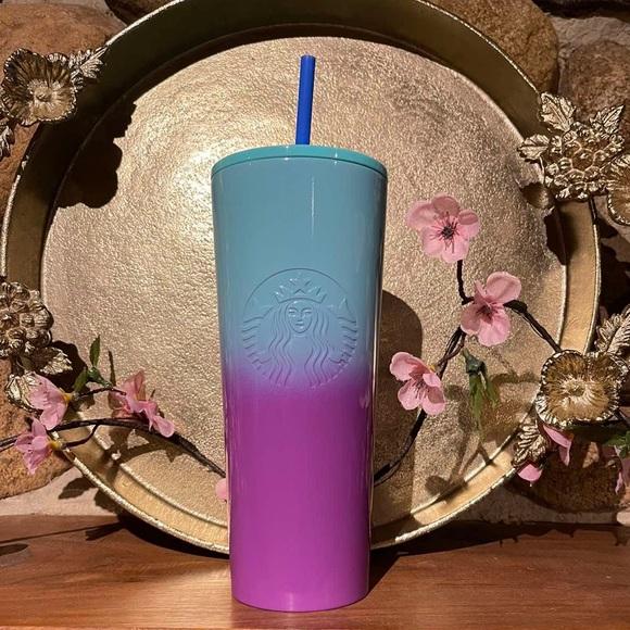 Starbucks Ombre Purple Blue Stainless Tumbler